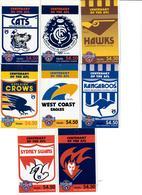 AUSTRALIA 1996 - GIRO COMPLETO 16 LIBRETTI SQUADRE AUSTRALIANE FOOTBALL AFL - MNH ** - 1990-99 Elizabeth II