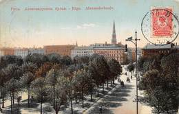 "MO7993 "" RIGA-ALEXANDERBOULV ""ANIMATA  CARTOLINA POSTALE ORIGINALE SPEDITA 1909 - Lettonia"
