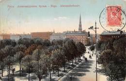 "M07993 "" RIGA-ALEXANDERBOULV ""ANIMATA  CARTOLINA POSTALE ORIGINALE SPEDITA 1909 - Lettonia"