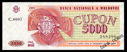 MOLDOVA 5000 COUPONS 1993 C0005 Pick 4 Unc - Moldova