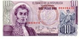 Colombia P.476 10 Pesos 1979 Unc - Colombia