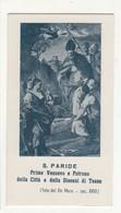 Santino Antico San Paride Vescovo Da Teano - Caserta - Religione & Esoterismo