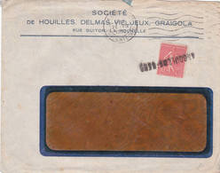 Annulation Arrivée Angouleme Gare Charente Semeuse Soyaux 1932 - Handstempel