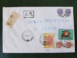 (31431) STORIA POSTALE ITALIA 1977 - 6. 1946-.. Repubblica