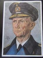 Postkarte Admiral Dönitz - Willrich - Feldpost - Bahnpost - Erhaltung II - Weltkrieg 1939-45