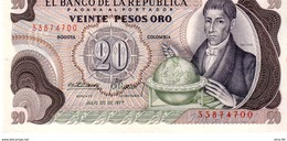 Colombia P.409 20 Pesos 1977 A-unc - Colombia