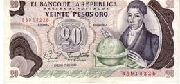 Colombia P.409 20 Pesos 1981 Au - Colombie