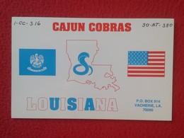 TARJETA TIPO POSTAL TYPE POST CARD QSL RADIOAFICIONADOS RADIO AMATEUR USA UNITED STATES CAJUN COBRAS COBRA LOUISIANA VER - Tarjetas QSL