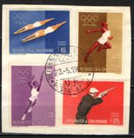 SAN MARINO - 1960 - OLIMPIADI DI ROMA '60 - ANNULLO PRIMO GIORNO - F.D.C. - USATI - Posta Aerea
