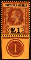 Northern Nigeria , 1912,  £1 Orange Brown , KGV  ,SG.52,  MNH** - North Borneo (...-1963)