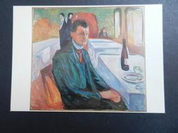 19923) MUNCH EDVARD AUTORITRATTO CON VINO SELFPORTRAIT BY THE WINE OSLO MUNCH MUSEET - Pittura & Quadri