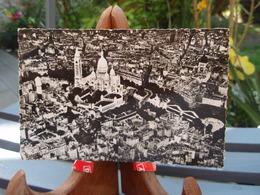 Cpsm PARIS Vue Aérienne. La Basilique Du Sacré-Couer De Montmartre 3 Août 1955 - Other Monuments