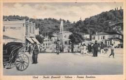 """MO7997 """"VLORE-SHESHI FLAMURIT-VALONA PIAZZA BANDIERA""""ANIMATA-CARROZZA-AUTO ANNI '40  CARTOLINA POST. ORIGIN. SPED.1940 - Albania"""