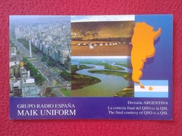 TARJETA TIPO POSTAL TYPE POST CARD QSL RADIOAFICIONADOS RADIO AMATEUR DIVISION ARGENTINA POSADAS MISIONES ARGENTINE VER - Tarjetas QSL