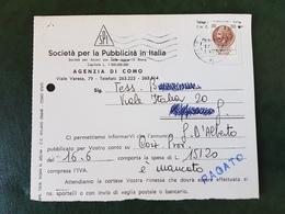 (31460) STORIA POSTALE ITALIA 1975 - 6. 1946-.. Repubblica