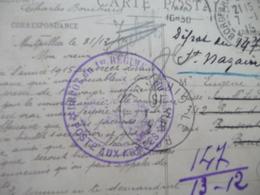 Sur CPA Montpellier 1915 Cachet Bleu Militaire Dépôt Du Premier Régiment Du Génie 1er REG Légion étrangère - Postmark Collection (Covers)