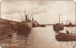 """M07998 """"ROTTERDAM  PARKHAVEN """" PIROSCAFI,CHIATTE,BARCHE CARTOLINA POST. ORIGIN. SPED.1928 - Port Said"""