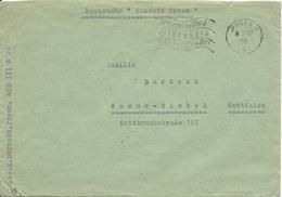 """DR Polen 1942, Posen, Portofreier Brief """"Postsache Einsatz Osten"""" - Germany"""