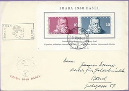 Schweiz Suisse 1948: IMABA Zu WIII31 Mi Block 13 Yv BF 13 FDC Mit O AUTOMOBIL-POSTBUREAU 21.VIII.48 (Zu CHF 120.00) - FDC
