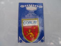 Cp  ** Corlay **   Blason Adhesif Dans Sa Pochette  D'origine   ** - France