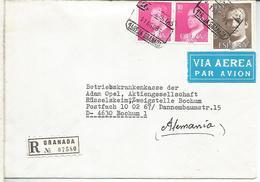 GRANADA CC CERTIFICADA A ALEMANIA MAT 1RA REJA - 1931-Hoy: 2ª República - ... Juan Carlos I