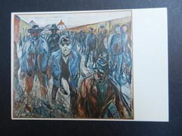 19923) MUNCH EDVARD WORKERS ON THEIR WAY HOME OSLO MUNCH MUSEET - Pittura & Quadri