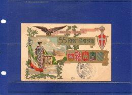 ##(DAN195)-Cartolina 55° Reggimento Fanteria -  Stampa Stab. A.Marzi - Roma  -  Nuova - Reggimenti
