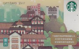Starbucks 2018 China City Chongqing Gift Card  RMB100 - Chine