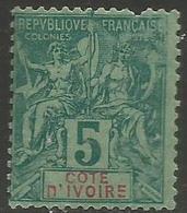 Ivory Coast - 1892 Navigation & Commerce 5c MH *   Sc 4 - Ivory Coast (1892-1944)