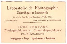 LABORATOIRE DE PHOTOGRAPHIE SCIENTIFIQUE ET INDUSTRIELLE  PARIS 12 - Cartes