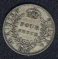 Britisch Guiana, 4 Pence 1945, Silber - Kolonien