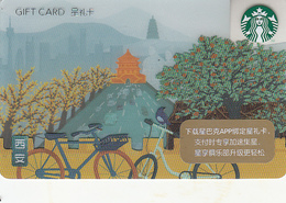 Starbucks 2018 China City Xi An Gift Card  RMB100 - Chine