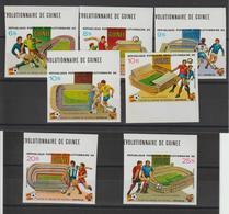 Guinée 1982 Coupe Du Monde Football Série 692-95 Et PA 145-7 Non Dentelée Bord De Feuille 7 Val Neuf ** MNH - Guinée (1958-...)