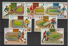 Guinée 1982 Coupe Du Monde Football Série Surchargée 696-99 Et PA 148-50 7 Val Neuf ** MNH - Guinée (1958-...)