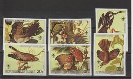 Guinée 1985 Oiseaux Bicentenaire Audubon Série 764-67 Et PA 178-79 Non Dentelée 6 Val Neuf ** MNH - Guinée (1958-...)