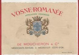 Etiquette De VIN - Vosne-Romanée - De Moucheron & Cie. - Cote-D'or. - Etiketten