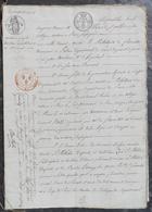 D.Le Peletier à Ladon,mandataire De Son Frère A.Le Peletier à Berzy-le-Sec(02)succession Et Partage. - Manuscrits