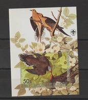 Guinée 1985 Oiseaux Audubon BF 52 Non Dentelé Neuf ** MNH - Guinée (1958-...)