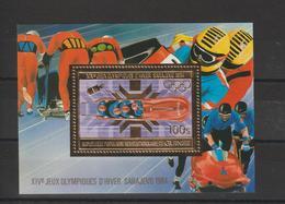 Guinée Bloc Doré 1983 Non Répertorié Yvert JO Sarajevo Neuf ** MNH - Guinée (1958-...)