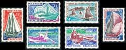 POLYNESIE 1966 - Yv. 36 37 38 39 40 41 **   Cote= 31,40 EUR - Bateaux Pirogue/Yacht/Pêche/Goélette/ (6 Val)  ..Réf.POL23 - French Polynesia