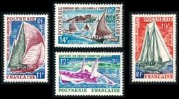 POLYNESIE 1966 - Yv. 37 38 39 40 NEUF   Cote= 18,90 EUR - Bateaux: Yacht/Pêche/Pirogue/Goélette (4 Val)  ..Réf.POL23786 - Polinesia Francesa