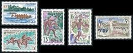 POLYNESIE 1967 - Yv. 47 48 49 50 51 ** SUP  Cote= 26,00 EUR - Fête De Juillet (5 Val.)  ..Réf.POL23791 - French Polynesia