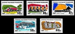 POLYNESIE 1970 - Yv. 72 73 74 75 76 **   Cote= 51,00 EUR - Grands Edifices (5 Val.)  ..Réf.POL23812 - Französisch-Polynesien