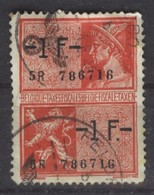Belgien Fiskalmarke 1 F (vor 1945) Hermeskopf Gest - Revenue Stamps