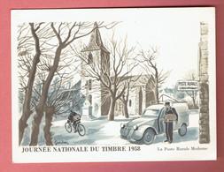 P - 206 - Journée Du Timbre 1958 Obl Paris Sur 1151 Vers Belgique - 1921-1960: Période Moderne