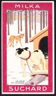 CHROMO Chocolat SUCHARD Fable La Fontaine Le Loup & Le Chien   Wolf  Dog Serie 249 - Suchard