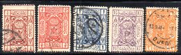 APR515 - ARABIA SAUDITA HEDJAZ 1922 , Cinque Valori Diversi Usati   (2380A) . - Arabia Saudita