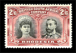 Rhodesia  1910, 2/6p  Rose & Black ,  SG 155a  ,  MNH** - Unclassified
