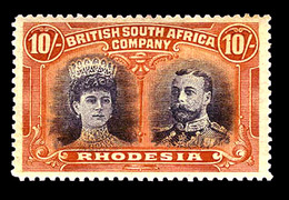Rhodesia   1910, 10/  Orange & Blue  , SG 164 , MNH** - Unclassified
