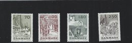 Fishing Industri Denmark.  SG: 660 - 663,   T - 129 - Fabbriche E Imprese